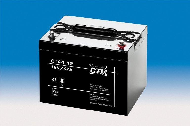 ctm wartungsfreie agm batterie bleiakku ct44 12i 12 volt 44 ah. Black Bedroom Furniture Sets. Home Design Ideas