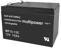 Multipower MP15-12C Bleiakku 12V 12Ah zyklenfest