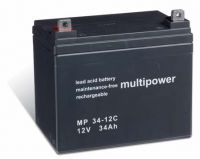 Multipower MP34-12C Bleiakku 12V 34Ah zyklenfest