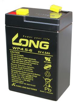Kung Long WP4.5-6 AGM Batterie / Bleiakku 6V 4,5Ah