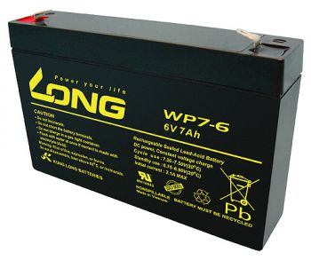 Kung Long WP7-6 AGM Batterie / Bleiakku 6V 7Ah