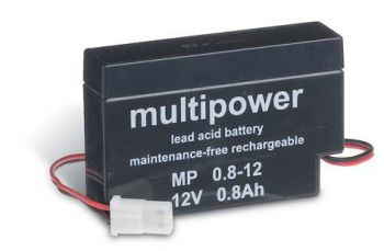 Multipower MP0,8-12AMP AGM Batterie / Bleiakku 12V 0,8Ah