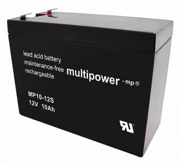 Multipower MP10-12S AGM Batterie / Bleiakku 12V 10Ah