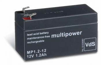Multipower MP1,2-12 AGM Batterie / Bleiakku 12V 1,2Ah VdS