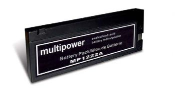 Multipower MP1222A AGM Batterie / Bleiakku 12V 2Ah