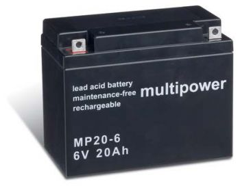 Multipower MP20-6 AGM Batterie / Bleiakku 6V 20Ah