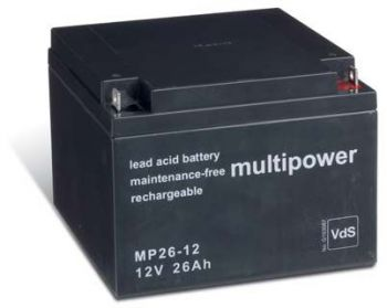 Multipower MP26-12 AGM Batterie / Bleiakku 12V 26Ah VdS