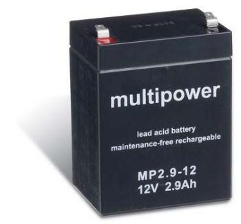 Multipower MP2,9-12 AGM Batterie / Bleiakku 12V 2,9Ah