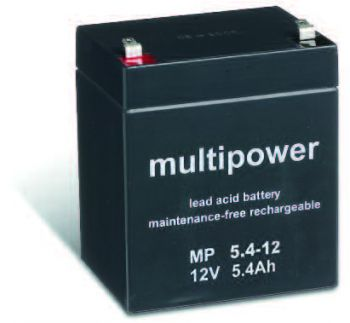 Multipower MP5,4-12 AGM Batterie / Bleiakku 12V 5,4Ah