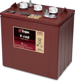 Trojan T-105 deep cycle Batterie 6 Volt 225 Ah