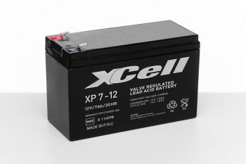 XCell XP 7-12 Bleiakku 12V 7Ah FastOn 4,8mm VdS