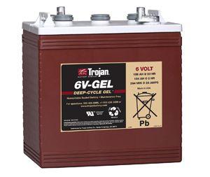 trojan 6v gel cycle batterie 6 volt 189 ah. Black Bedroom Furniture Sets. Home Design Ideas