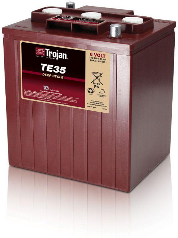 trojan te35 deep cycle batterie 6 volt 245 ah. Black Bedroom Furniture Sets. Home Design Ideas