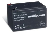 Multipower MP12-12 AGM Batterie / Bleiakku 12V 12Ah