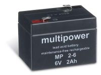 Multipower MP2-6 AGM Batterie / Bleiakku 6V 2Ah