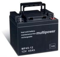 Multipower MP45-12 AGM Batterie / Bleiakku 12V 45Ah VdS