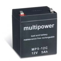 Multipower MP5-12C Bleiakku 12V 5Ah zyklenfest