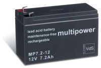 Multipower MP7,2-12 AGM Batterie / Bleiakku 12V 7,2Ah VdS
