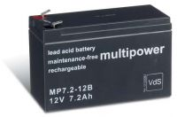 Multipower MP7,2-12B AGM Batterie / Bleiakku 12V 7,2Ah VdS