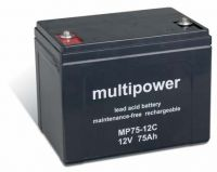 Multipower MP75-12C Bleiakku 12V 75Ah zyklenfest