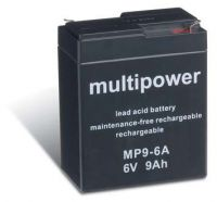 Multipower MP9-6A AGM Batterie / Bleiakku 6V 9Ah